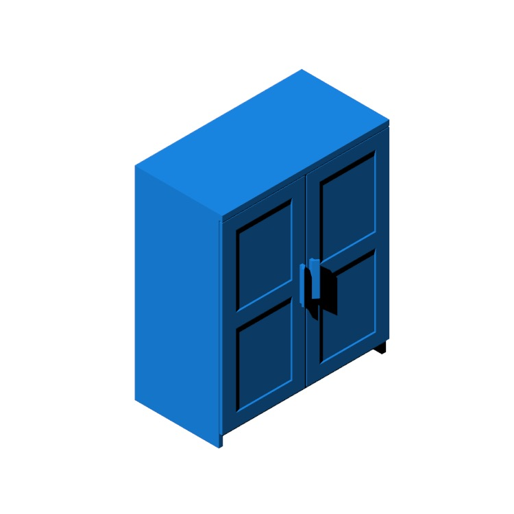 3D model of the IKEA Brimnes Storage Cabinet viewed in perspective