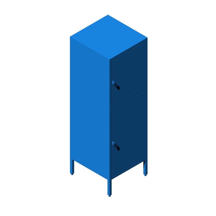 3D model of the IKEA Hällan Storage Combination - Tall (Mixed Pair) viewed in perspective