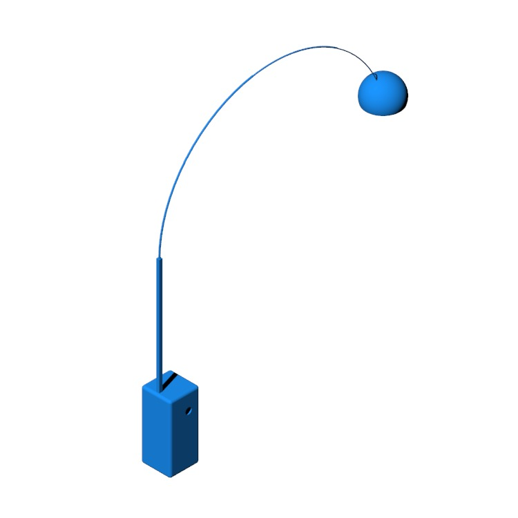 View of the Arco Floor Lamp in 3D available for download