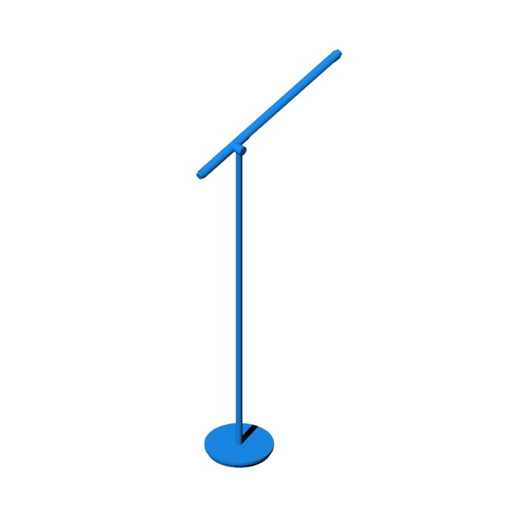Perspective view of a 3D model of the Brazo Floor Lamp
