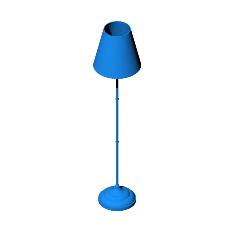 3D model of the IKEA Årstid Floor Lamp viewed in perspective