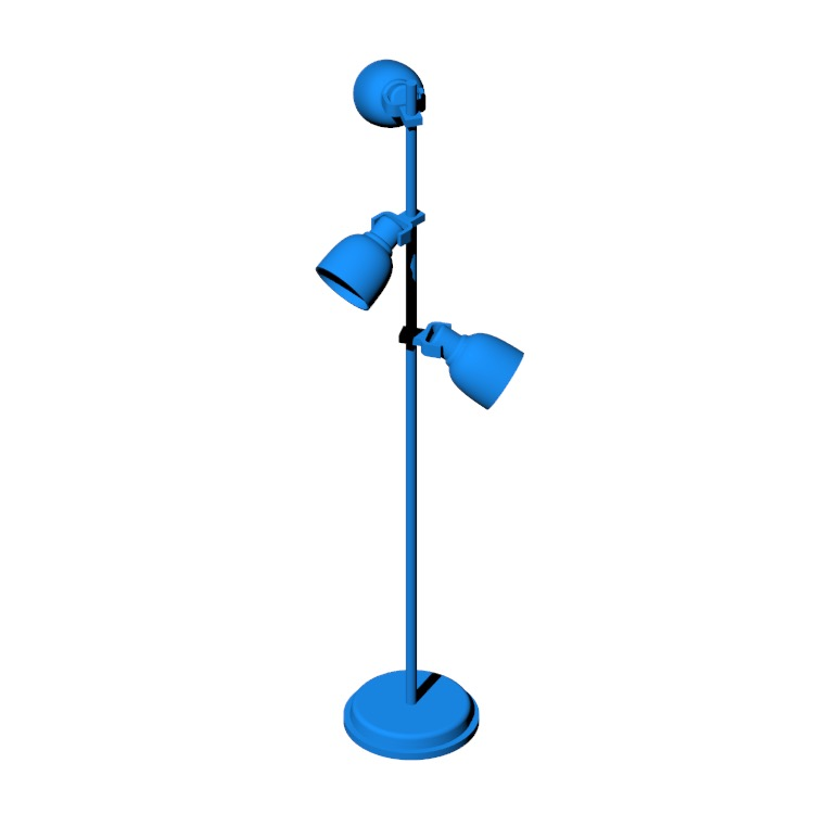 View of the IKEA Hektar Floor Lamp in 3D available for download