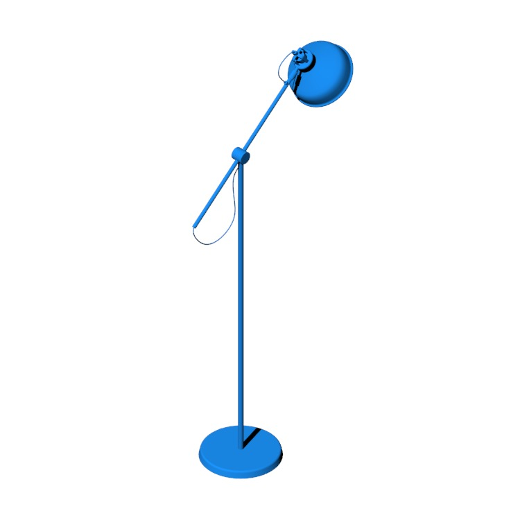 View of the IKEA Ranarp Floor Lamp in 3D available for download