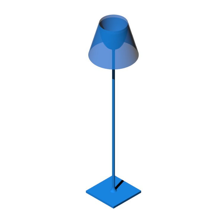 3D model of the Ktribe F2 Floor Lamp viewed in perspective