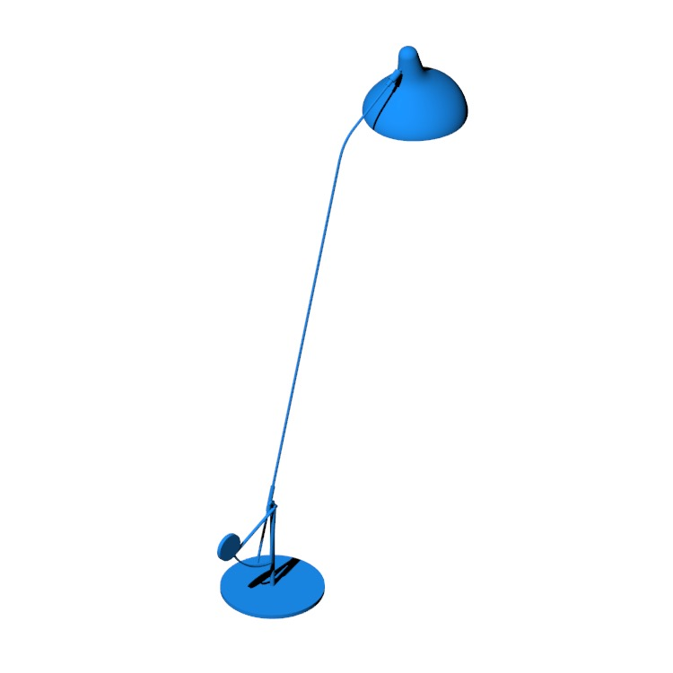 Perspective view of a 3D model of the Mantis BS1 B Floor Lamp