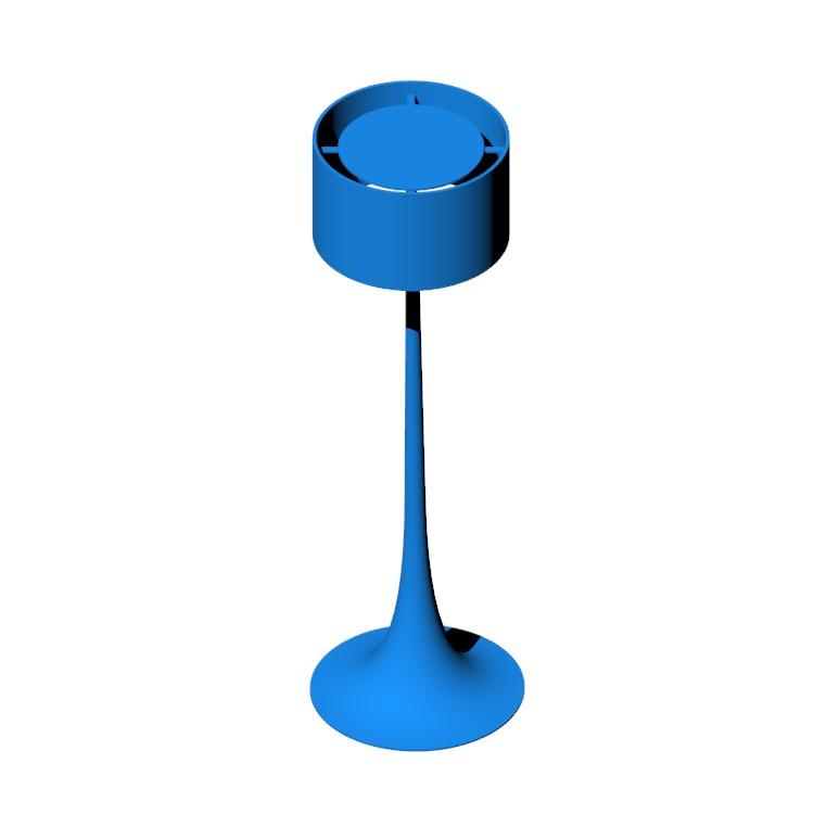 Perspective view of a 3D model of the Spun Floor Lamp