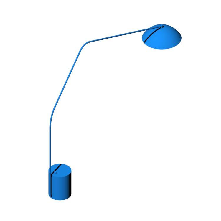 3D model of the Sten Floor Lamp viewed in perspective