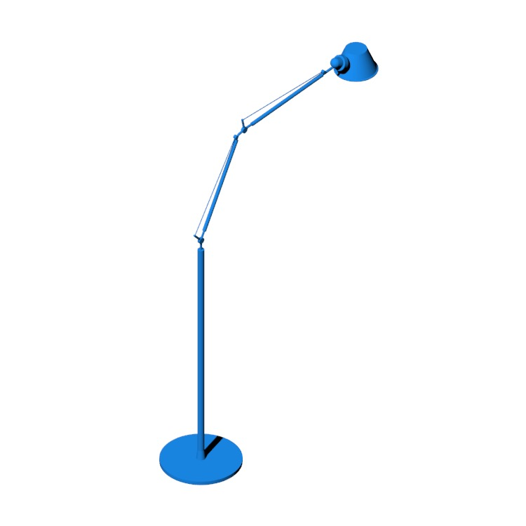 View of the Tolomeo Floor Lamp in 3D available for download
