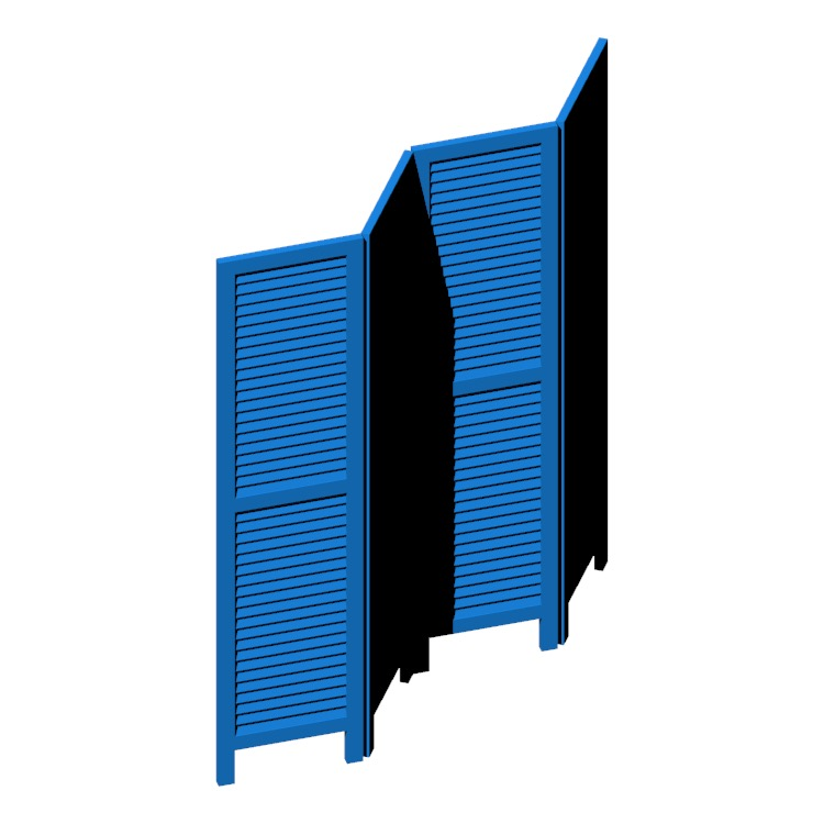 3D model of the Bozeman Room Divider viewed in perspective
