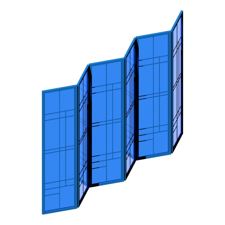 Perspective view of a 3D model of the Clara Shoji Room Divider