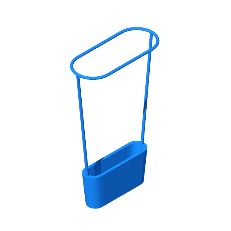 Perspective view of a 3D model of the Hoop Umbrella Stand