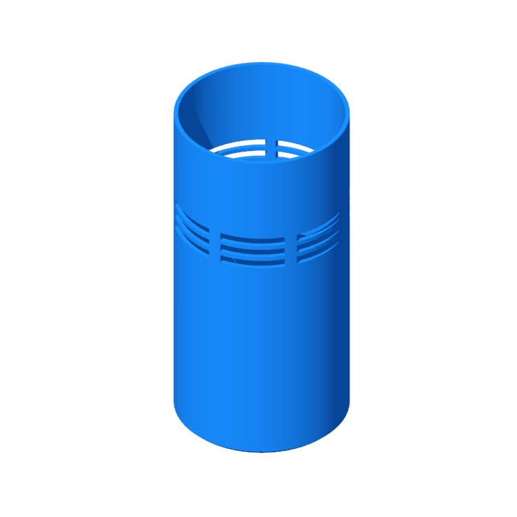 3D model of the Slice Umbrella Stand viewed in perspective