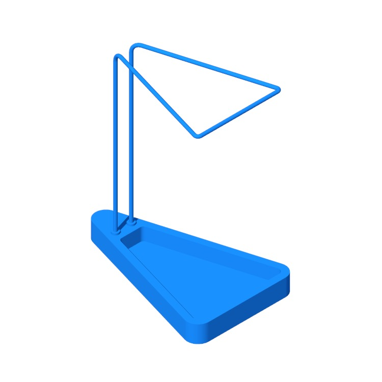 Perspective view of a 3D model of the Waiting Umbrella Stand