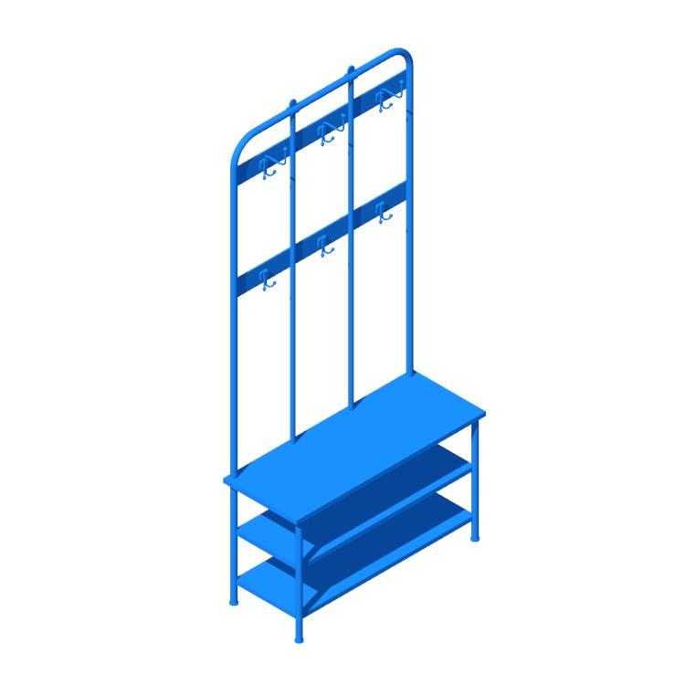 Ikea Pinnig Coat Rack Storage Bench
