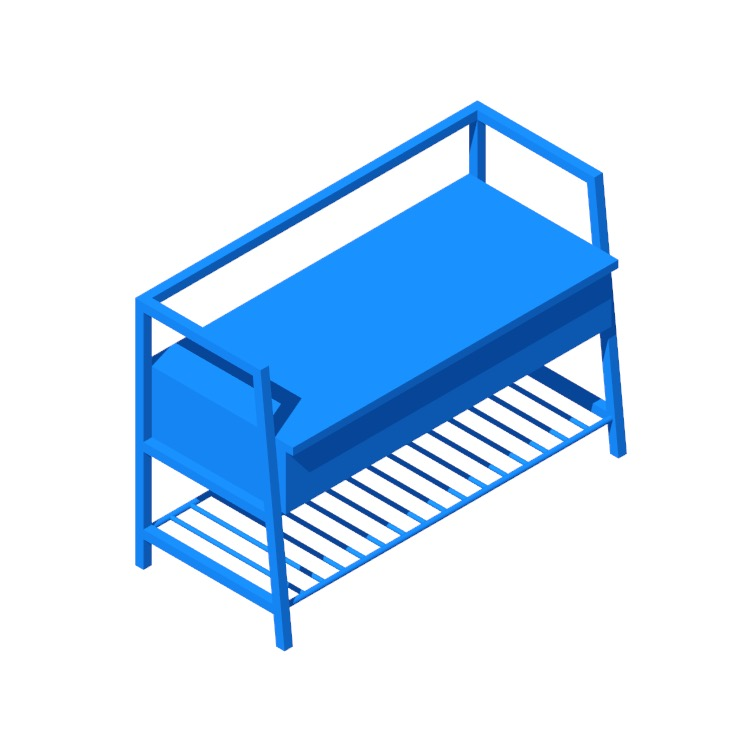 View of the Ermont Wood Storage Bench in 3D available for download