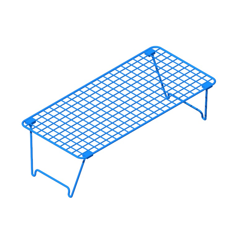 Perspective view of a 3D model of the IKEA Grejig Shoe Rack
