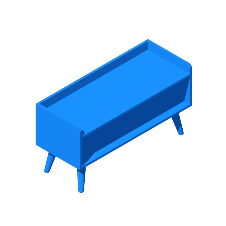 View of the Tracy Shoe Storage Bench in 3D available for download