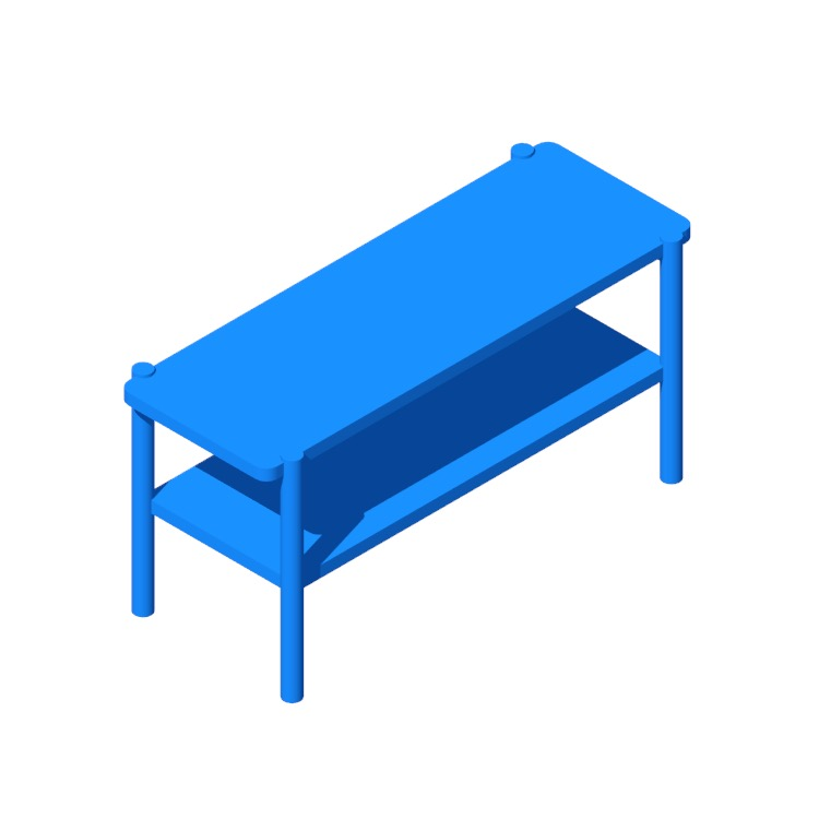 Perspective view of a 3D model of the Umbra Promenade Metal/Wood Storage Bench