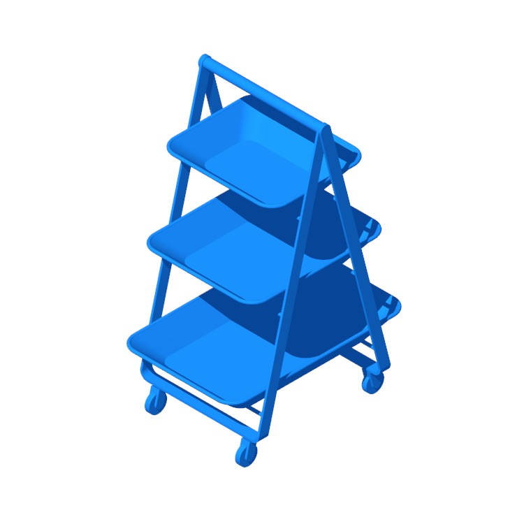 View of the IKEA Risatorp Utility Cart in 3D available for download