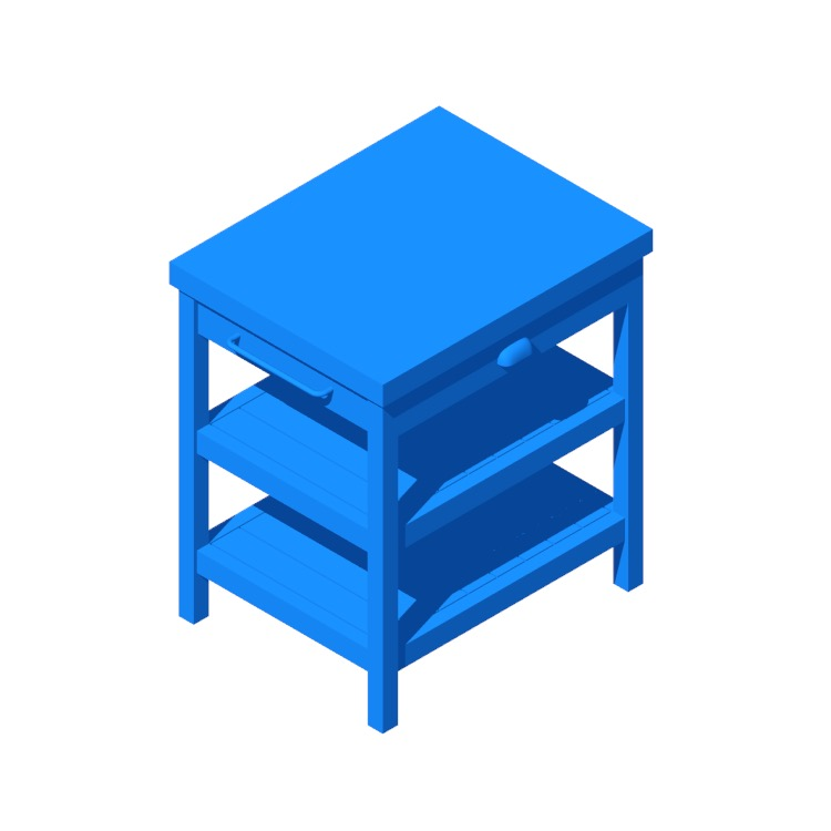 3D model of the IKEA Vadholma Kitchen Island viewed in perspective