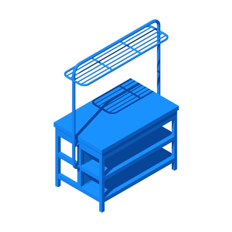 View of the IKEA Vadholma Kitchen Island (Rack) in 3D available for download