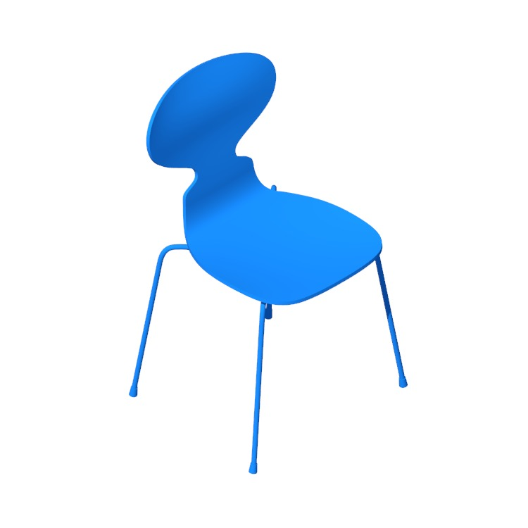 View of the Ant Chair in 3D available for download