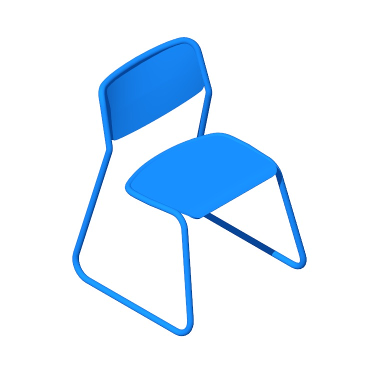 View of the Bounce Chair in 3D available for download