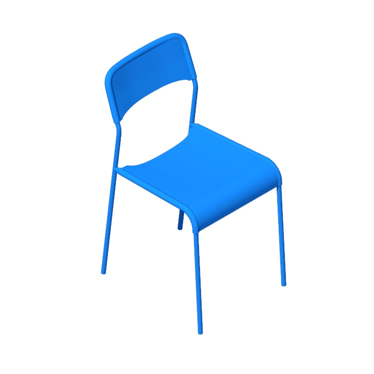 View of the IKEA Adde Chair in 3D available for download