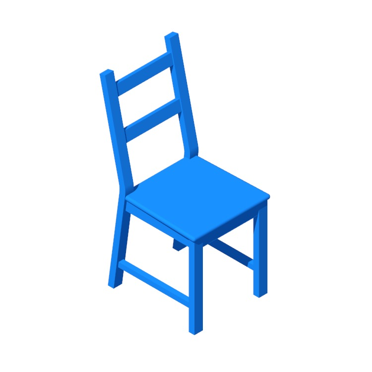 View of the IKEA Ivar Chair in 3D available for download