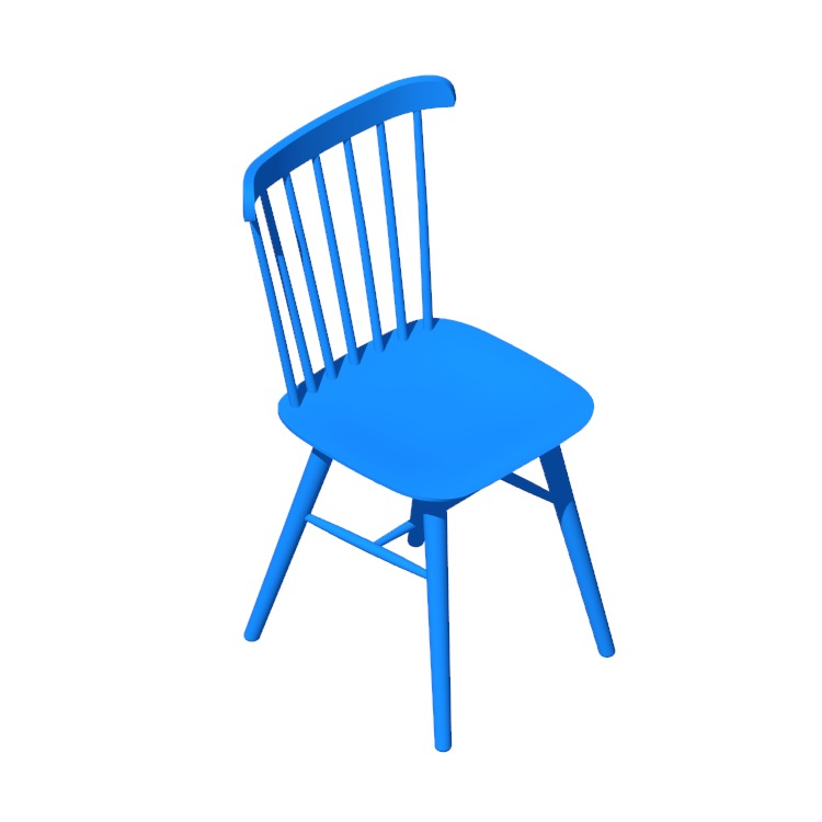 3D model of the Salt Chair viewed in perspective