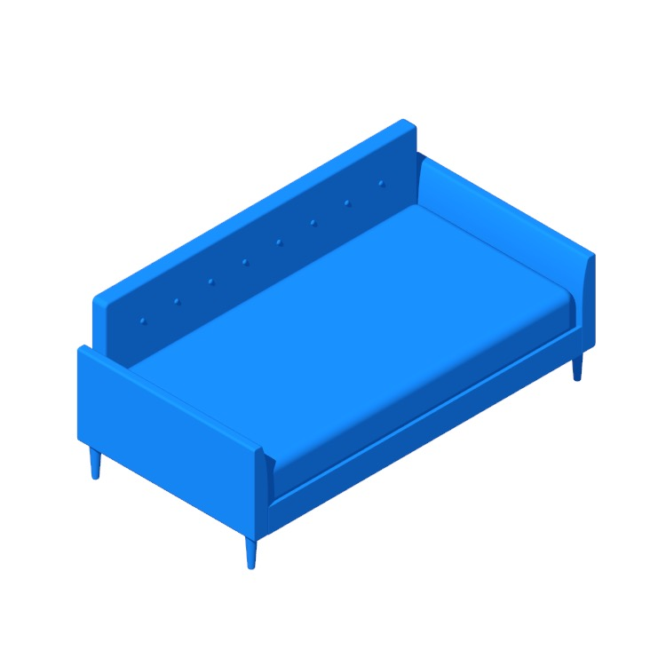 Perspective view of a 3D model of the Horus Twin Daybed