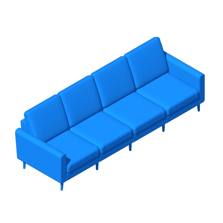 View of the Burrow Nomad King Sofa in 3D available for download
