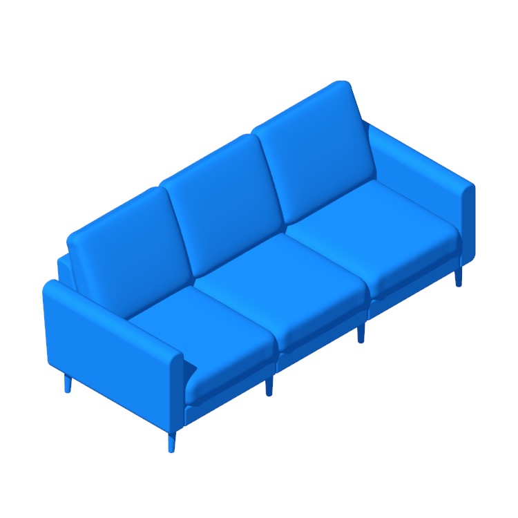 3D model of the Burrow Nomad Sofa viewed in perspective