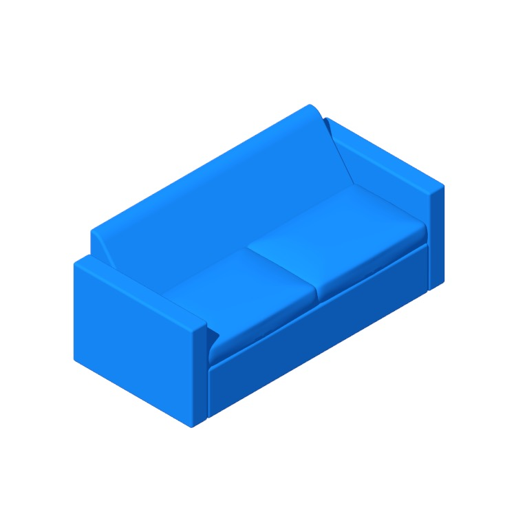 View of the Bevel Two-Seater Sofa in 3D available for download