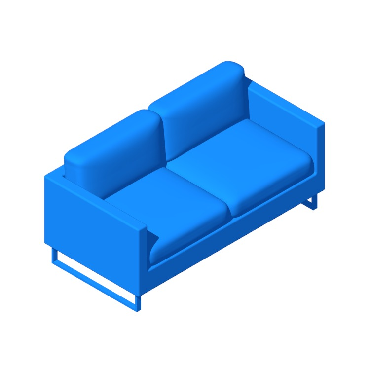 Perspective view of a 3D model of the Goodland Two-Seater Sofa