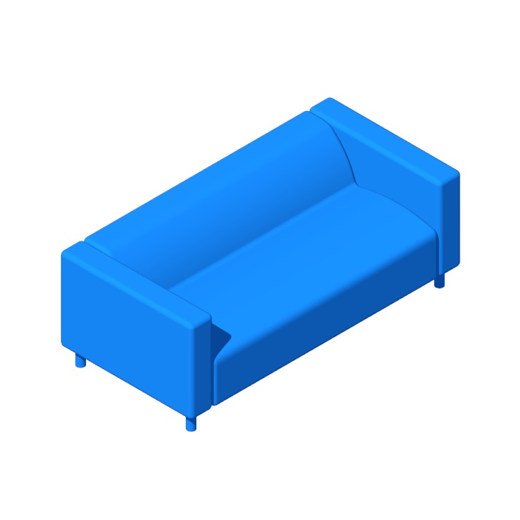 3D model of the IKEA Klippan Loveseat viewed in perspective