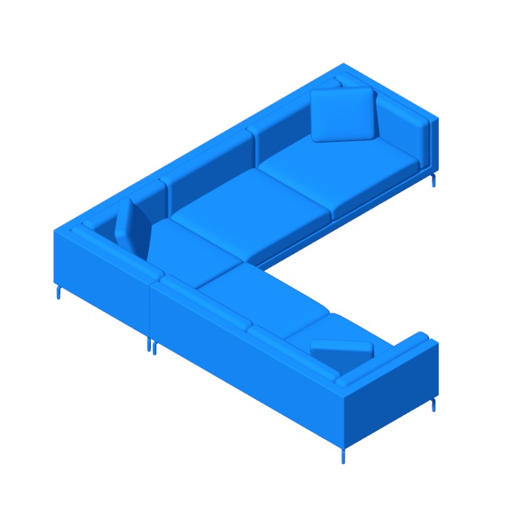 Perspective view of a 3D model of the Como Corner Sectional