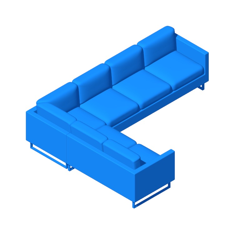 View of the Goodland Large Sectional in 3D available for download