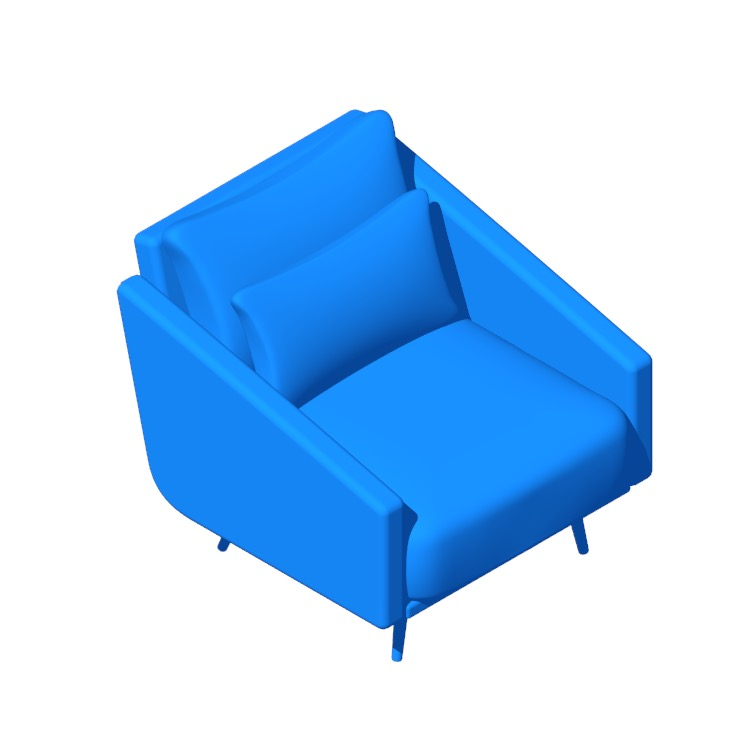 View of the Costura Armchair in 3D available for download