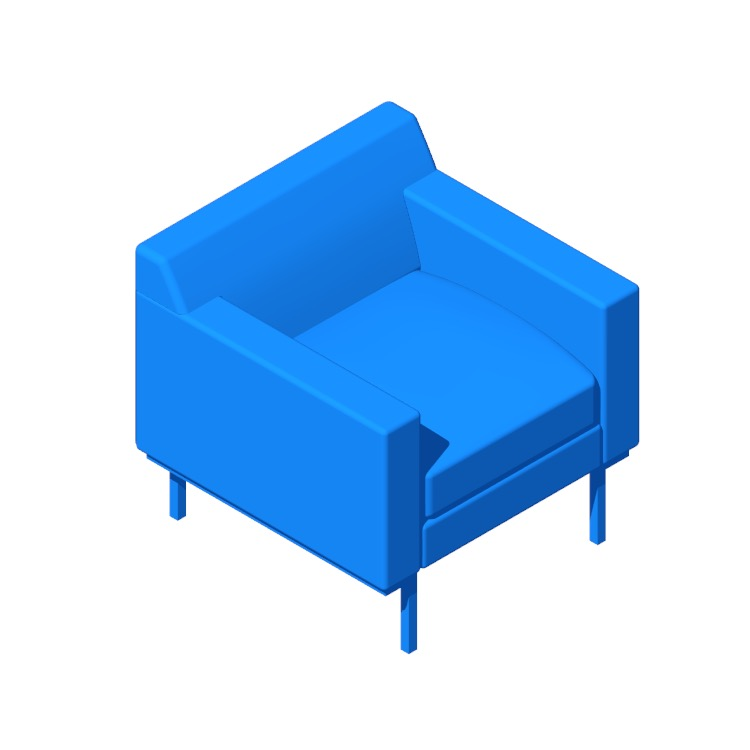 View of the Theatre Armchair in 3D available for download
