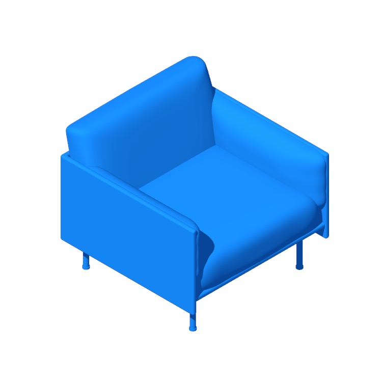 3D model of the Outline Armchair viewed in perspective