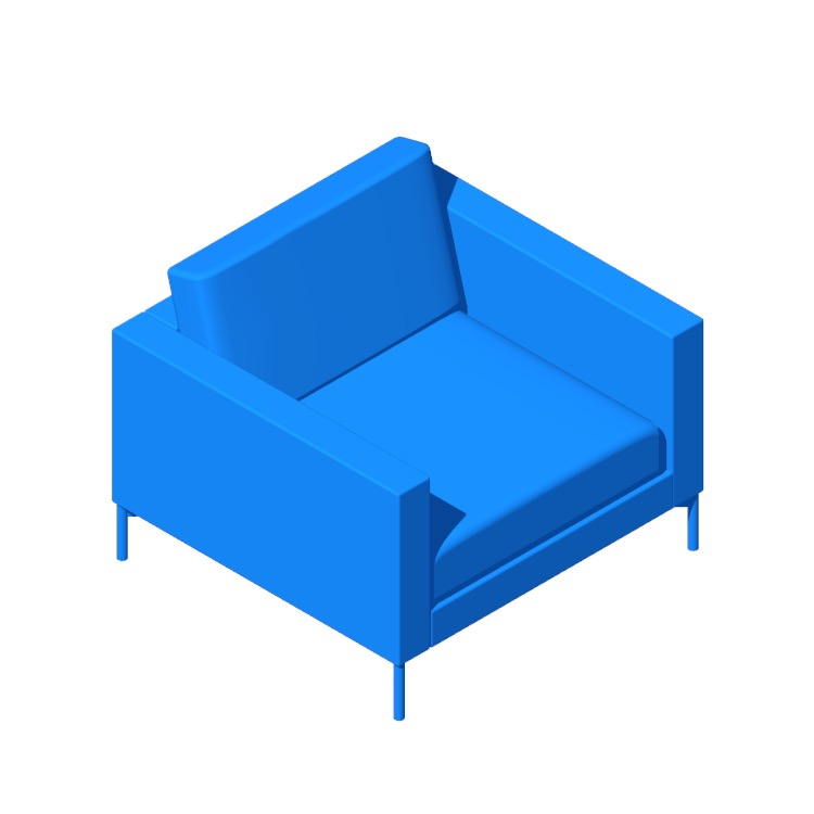 3D model of the Divina Lounge Chair viewed in perspective