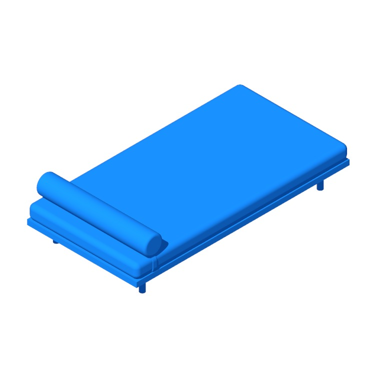 View of the IKEA Markerad Daybed in 3D available for download