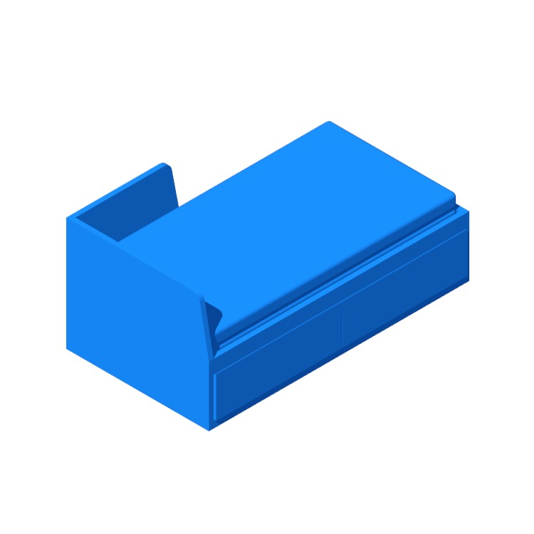 View of the IKEA Flekke Daybed in 3D available for download