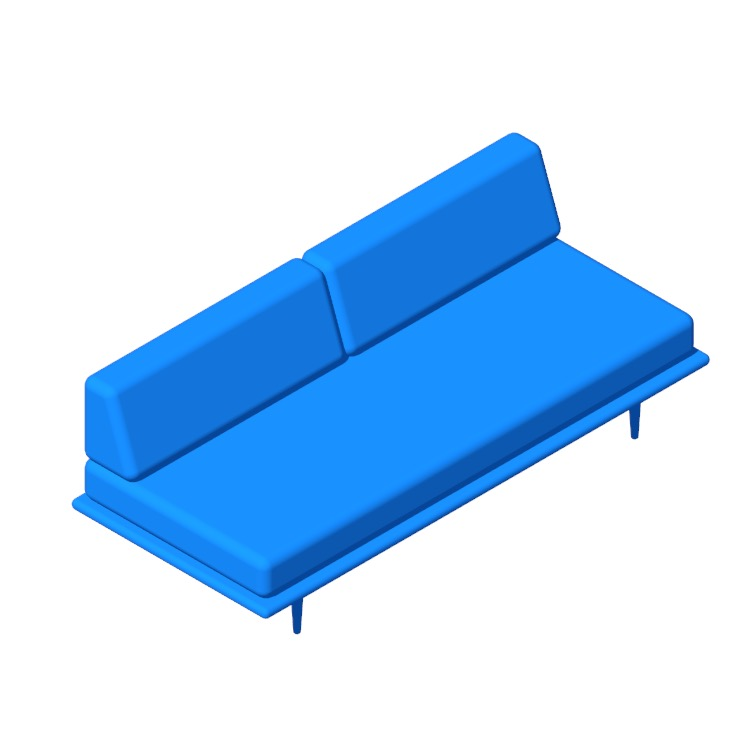 View of the Nelson Daybed with Back Bolsters in 3D available for download