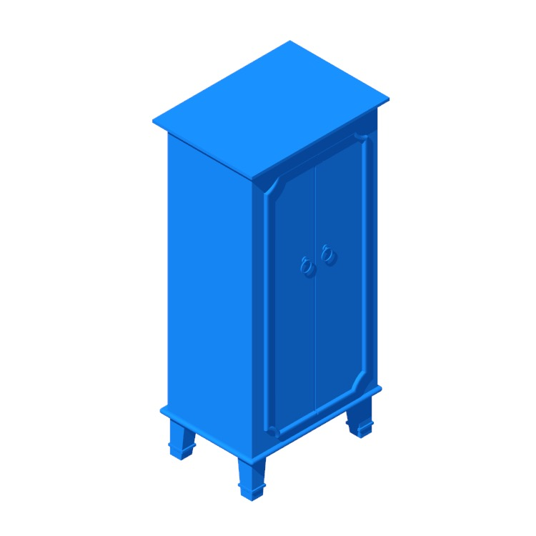 View of the Tinsman Cabby Jewelry Armoire in 3D available for download