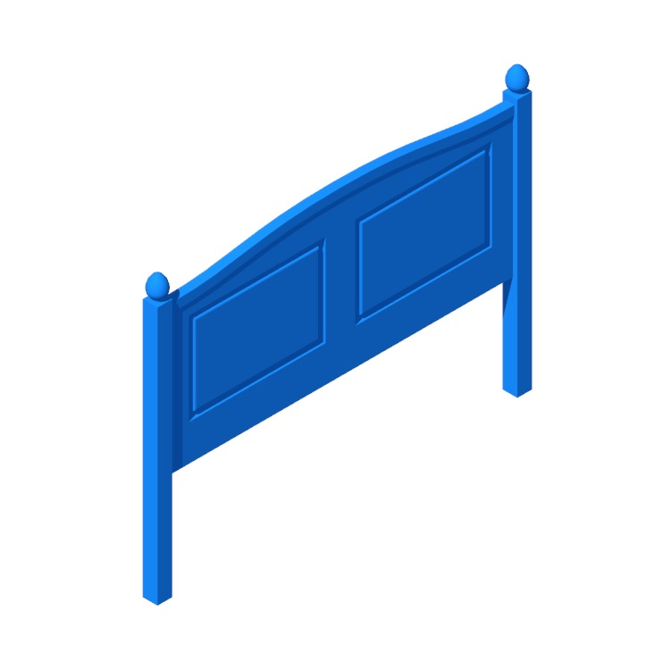 3D model of the IKEA Hornsund Headboard viewed in perspective