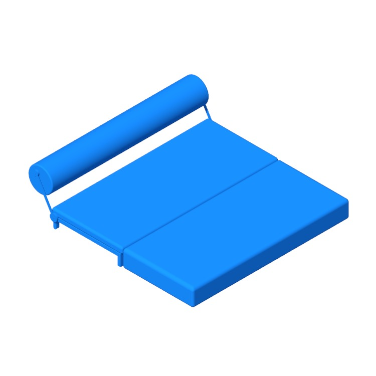 Perspective view of a 3D model of the Twilight Sleeper Sofa