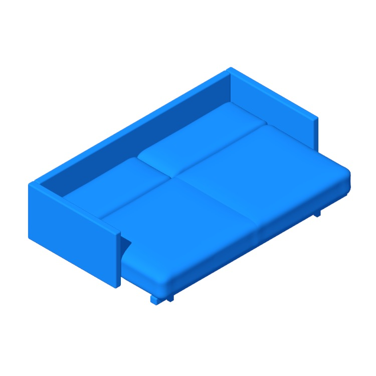 View of the Tuck Sleeper Sofa in 3D available for download