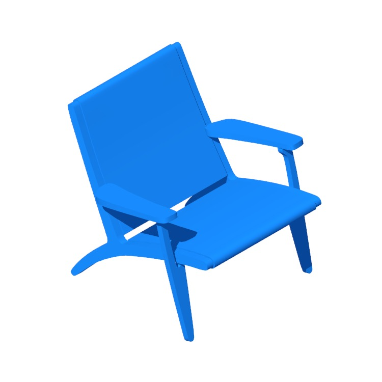 Perspective view of a 3D model of the Easy Chair